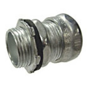 "Hubbell-Raco 2942RT EMT Compression Connector, 3"", Raintight, Steel"