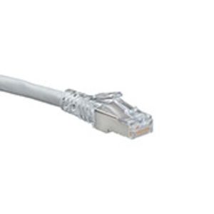 6AS105W WH CAT6A SHIELD SLIM P/CORD 5FT