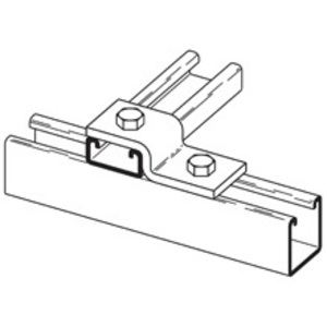 Eaton B-Line B106-52ZN TWO HOLE Z-SUPPORT FOR B52 CHANNEL ZINC PLATED