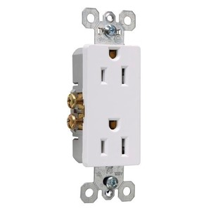 Pass & Seymour 885-SW RADIANT 15A/125V DUP RECEP SELF-GRD W