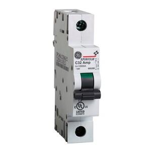GE EP101ULH1D10 Breaker, Miniature, 1P, 10A, 120VAC, 10kAIC, DIN Rail Mount