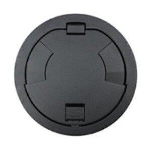 "Wiremold 8CT2BK Flush Style Cover Assembly, Diameter: 8"", Black"