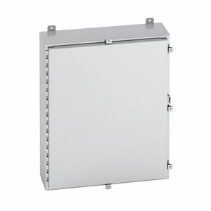 Cooper B-Line 24246-4XS Enclosure, NEMA 4X, Continuous Hinge Cover With Clamps, Wall Mount