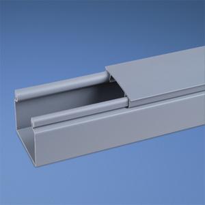 Panduit HS2X2LG6NM Solid Hinged Duct, PVC, 2X2X6', Light Gray