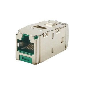 Panduit CJS5E88TGGRY Mini-Com Module, Cat 5e, Shielded, 8 pos *** Discontinued ***