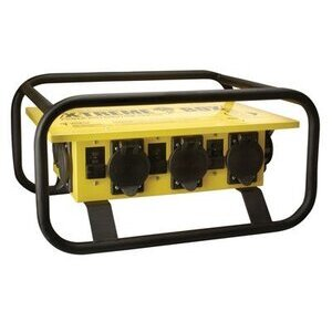Coleman Cable 019723R02 Power Distribution Box, 50A Inlet, 50/30/20A Outlets, NEMA3R, Sled
