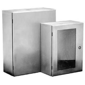 "nVent Hoffman CSD24168SS Enclosure, NEMA 4X, Hinged Cover, Stainless Steel, 24"" x 16"" x 8"""