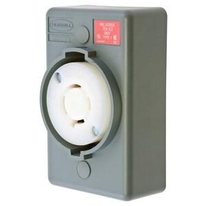 Hubbell-Wiring Kellems HBL2430SR LKG S/SHRD RCPT,