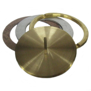 """Wiremold 825CK Conversion Kit Cover, 2-5/8"""" Diameter, Includes Plug, Brass"""