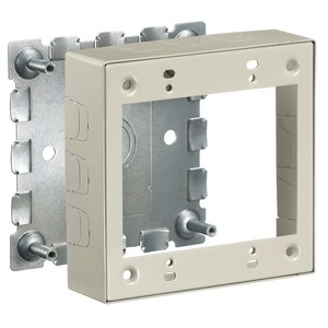 Hubbell-Kellems HBL57472IV Metal Raceway, Switch and Receptacle Box, Shallow