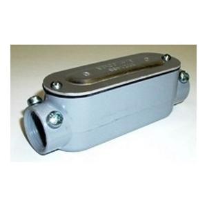 "Bridgeport Fittings C-43CGC Conduit Body With Cover/Gasket, Size: 1"", Type: C, Aluminum"