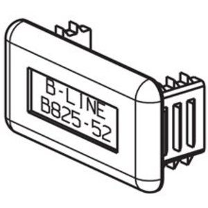 Cooper B-Line B825-22GRY Plastic End Cap, Gray, For B22 & B24 Series Channel