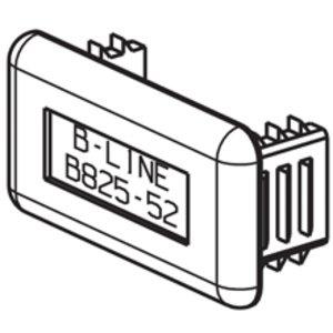 Eaton B-Line B825-22GRY Plastic End Cap, Gray, For B22 & B24 Series Channel