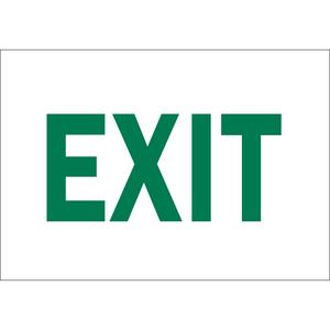 "Brady 22492 Sign, Exit, Not Illuminated, 10"" x 14"", Indoor/Outdoor"