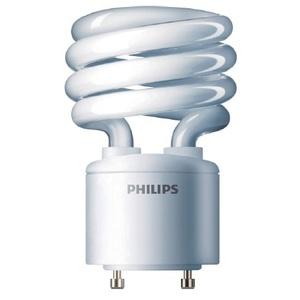 Philips Lighting EL/MDT-18W-GU24-4.1K-6/1 Compact Fluorescent Lamp, 18W, Twist Lock, 4100K, GU24 Base