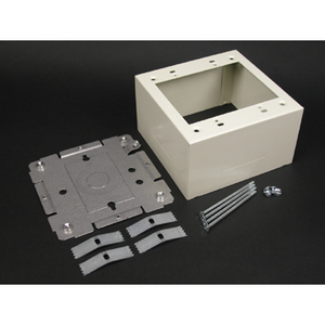 Wiremold V2444-2 Extra Deep Device Box, 2-Gang, 500/700/2000 Series Raceway, Ivory