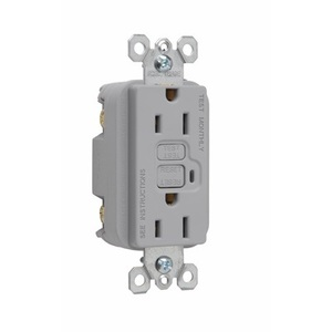 Pass & Seymour 1595-GRY GFCI Receptacle, 15A, 125V, Gray *** Discontinued ***