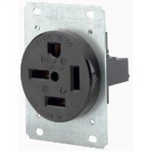 Leviton 8450 50 Amp Flush Mount Receptacle, 250V 3PH, 15-50R, 3P4W, Grounding