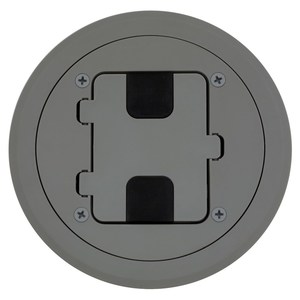 Hubbell-Wiring Kellems RF406GY FLOOR BOX FLANGE AND DOOR , GRAY