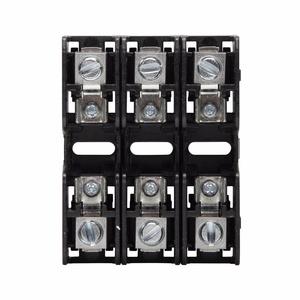 Eaton/Bussmann Series BCM603-3C Fuse Block, 3P, 30A, 600V AC/DC, Class CC, Box Lug, 200kAIC