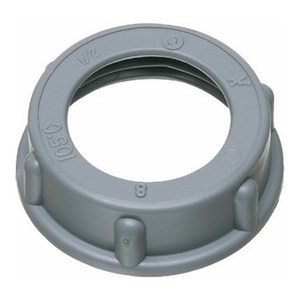 "Arlington 443 Conduit Bushing, Insulating, 1-1/4"", Threaded, Plastic"