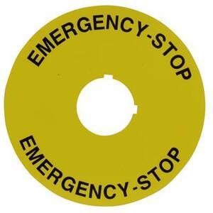ABB 080XTG802 LEGEND PLATE 78MM  ENG 'STOP'