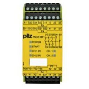 Pilz 777760 Relay, Safety, Stand Alone, 24VDC, 1 2 Channel Input, 3NO,2NC Outputs