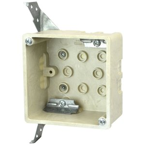 Allied Moulded 9342-HF 4 square inch electrical junction box for use with nonmetallic sheathed cable