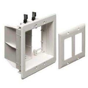 Arlington TVBU505BL TV Box, Recessed, Low Voltage, 2-Gang, Non-Metallic, Black