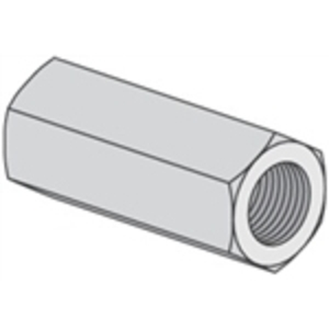 "Power-Strut PS135-3/8-EG Threaded Rod Coupling, 3/8"", Electro-Galvanized"