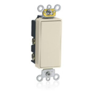 Leviton 5657-2T Decora Switch, 15A, 120/277V, Momentary, 1-Pole, Double Throw, Light Almond