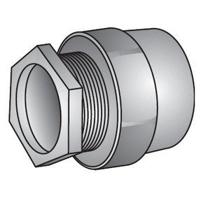 "OZ Gedney CH-100 Conduit Hub, Threaded, 1"", Malleable Iron"