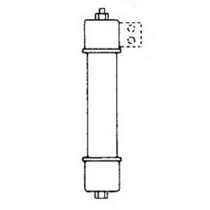 "Mersen A480R4R-1 Fuse, R-Rated, 4.8KV, 130A, Size 4R, 15.88 "" Length"