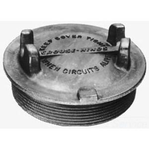 "Cooper Crouse-Hinds GUA07 Conduit Outlet Box Cover, Diameter: 3-5/8"", Aluminum"
