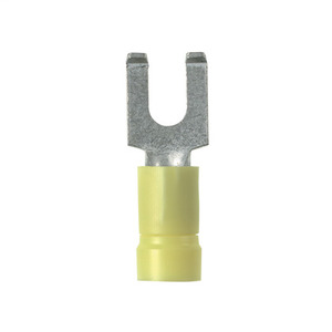 Panduit PV10-8FF-L Flanged Fork Terminal, vinyl insulated,