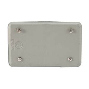 Appleton FSK-1B-C Blank Cover, 1-Gang, Malleable Iron