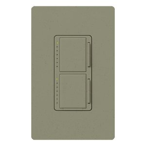 Lutron MA-L3L3-GB Dual Dimmer, Incandescent, Meastro, Greenbriar