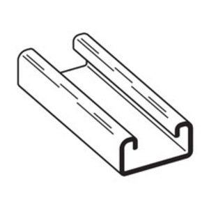 """Eaton B-Line B54-120-GLV Channel - No Holes, Steel, Pre-Galvanized, 1-5/8"""" x 13/16"""" x 10'"""