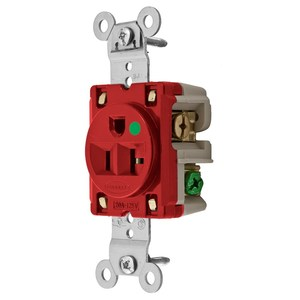 Hubbell-Wiring Kellems HBL8310R SGL RCPT, HG, 20A 125V, 5-20R, RD