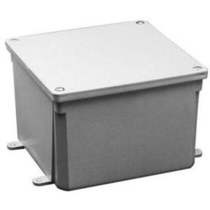 "Multiple 6X6X4-JCT-BOX-W/CVR Junction Box, NEMA 4X, Screw Cover, 6"" x 6"" x 4"""