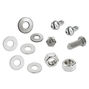 Panduit HDW1/4-A-KT Mounting Hardware Kit, Stainless Steel,