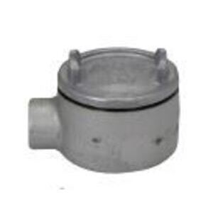 "Cooper Crouse-Hinds GUA14-DR0193101 Conduit Outlet Box, Type GUA, 1/2"" Hub, Iron Alloy"