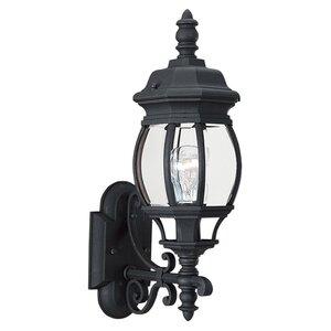 Sea Gull 88200-12 Wall Lantern, Outdoor, 1-Light, 100W, Black
