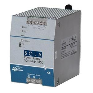 Sola Hevi-Duty SDN10-24-100P Power Supply, 10A, 1P, 85-264VAC, 24VDC, DIN Rail Mount