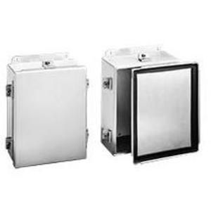 """nVent Hoffman A1210NFAL Junction Box, Wall Mount, NEMA 4X, Clamp Cover, 12"""" x 10"""" x 5"""""""