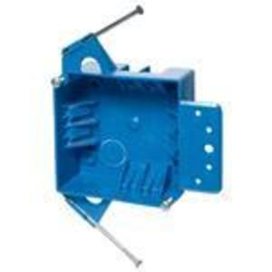 "Carlon B418A-UPC Switch/Outlet Box with Bracket, Depth 1-5/8"", 2-Gang"