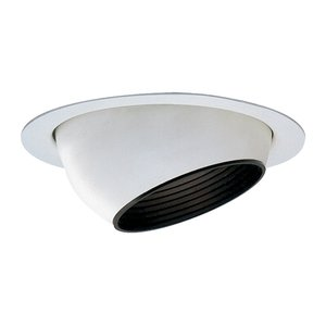 Lightolier 2022WH Adjustable Trim, White, Diameter: 3 3/4""