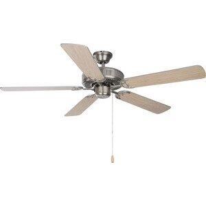 "Maxim Lighting 89905SN 52"" Ceiling Fan, Satin Nickel Finish, Silver/Maple Blades"