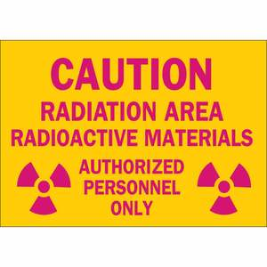 25283 RADIATION & LASER SIGN
