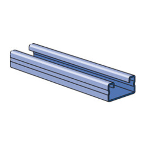 "Unistrut P4000-10EA Channel - No Holes, Extruded Aluminum, 1-5/8"" x 13/16"" x 10'"